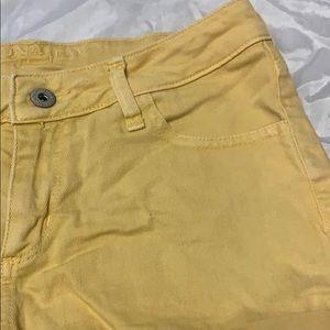 Arizona Jean Company Shorts - Arizona Jeans Yellow Jean Shorts